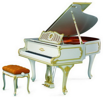 P IV Rokoko Gold grand piano